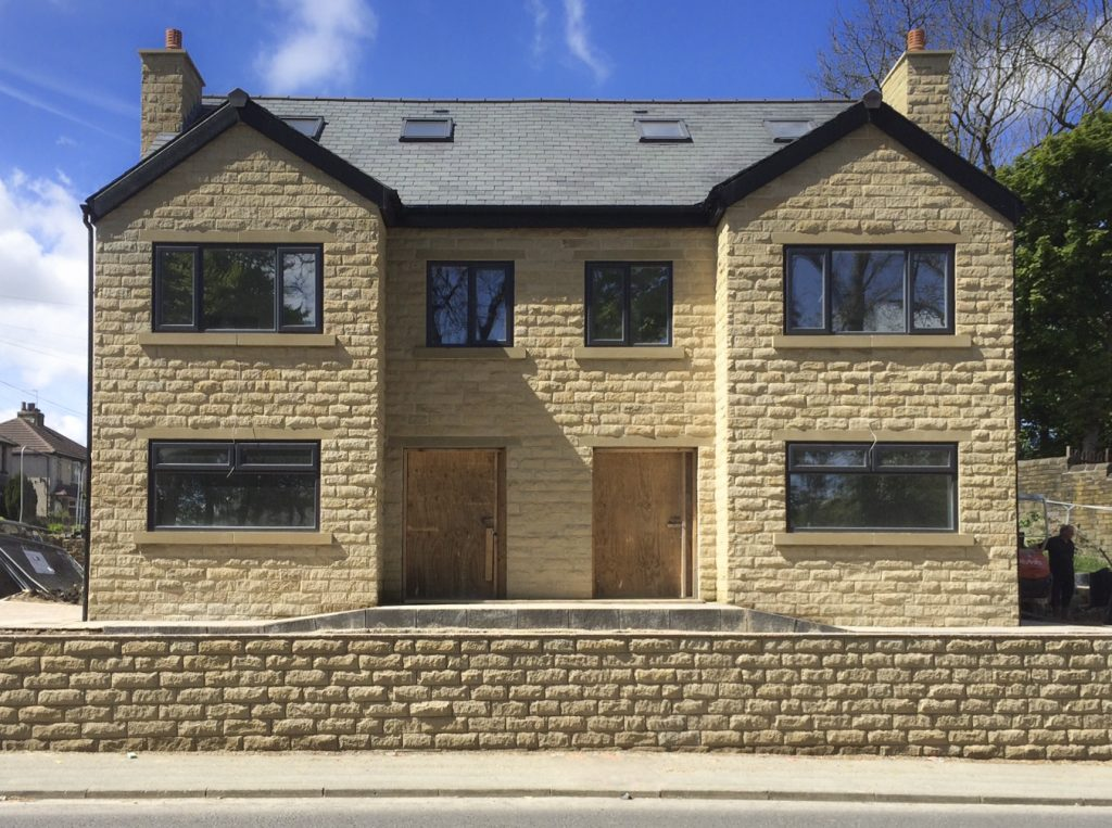 140mm pitched face walling stone