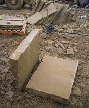 Riven paving stone